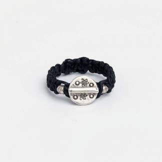 Inel din argint și fir negru Sunan, Thailanda