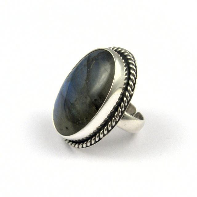Inel argint și labradorit, oval I, India