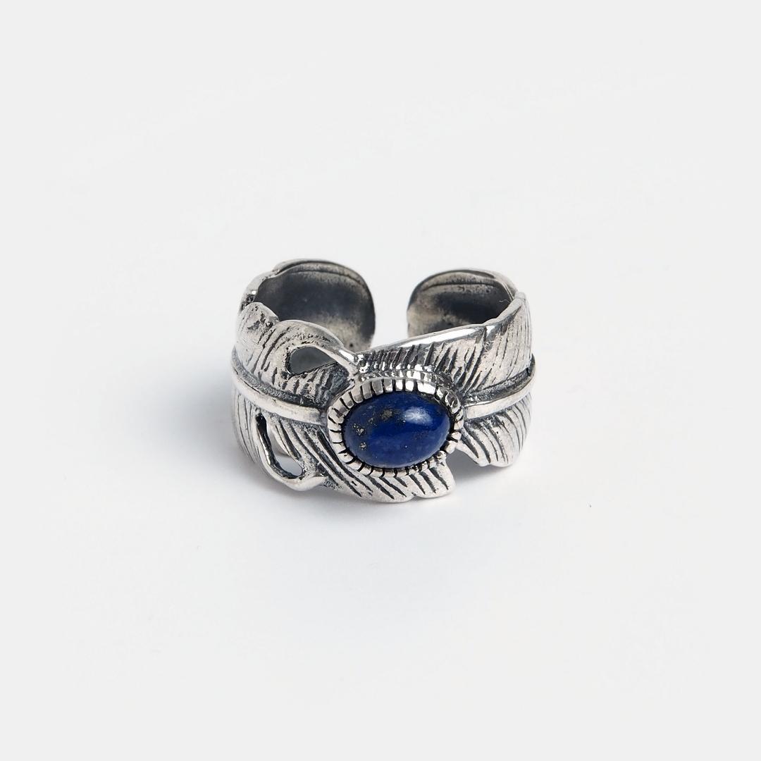Inel din argint și lapis lazuli Chattaan, India