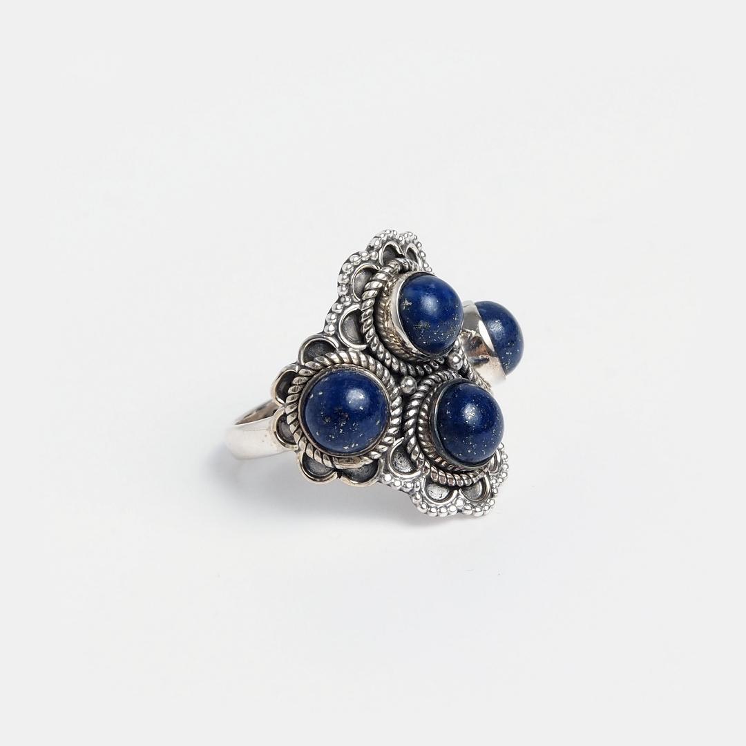 Inel din argint și lapis lazuli Yatra, India