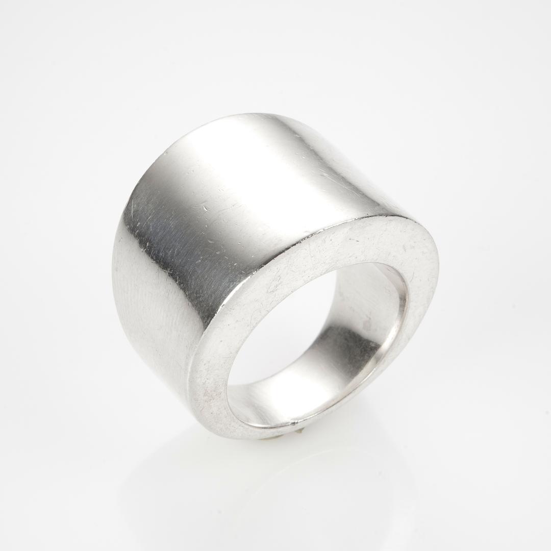 Inel argint, lățime variabilă, India