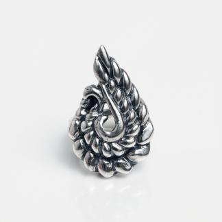 Inel din argint păun stilizat, India