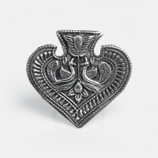 Inel din argint păuni yoni, India