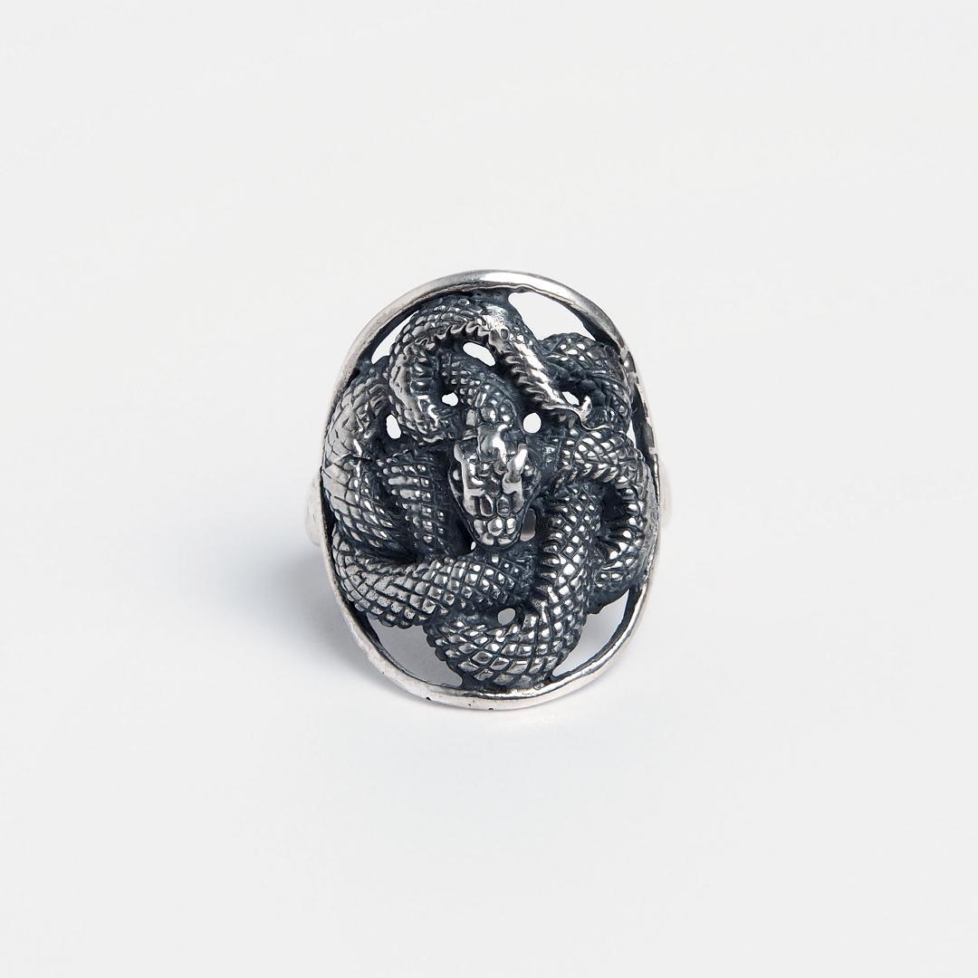 Inel din argint șarpe Ananta, India