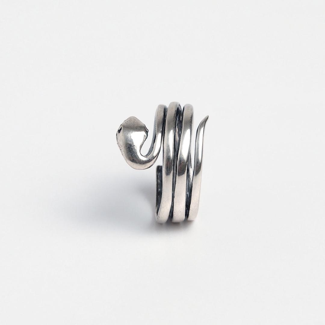 Inel din argint șarpe încolăcit Naag, India