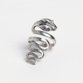 Inel din argint șarpe Kataar, India