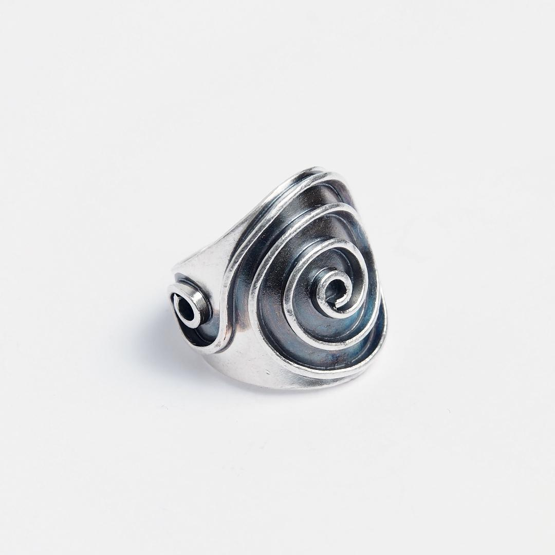 Inel argint spirală reglabil Swadee, Thailanda