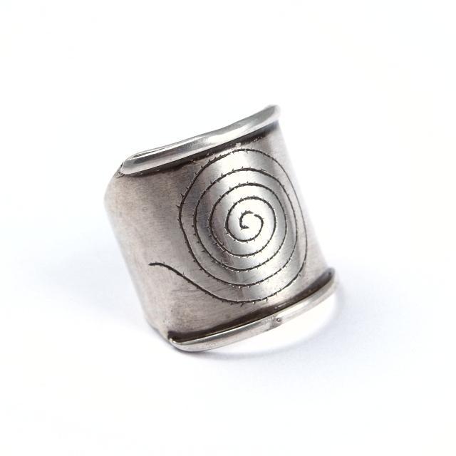 Inel argint, spirala, Sahara