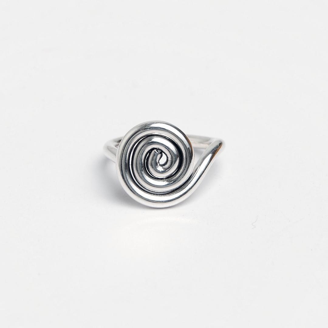 Inel din argint spirală Shay, Thailanda