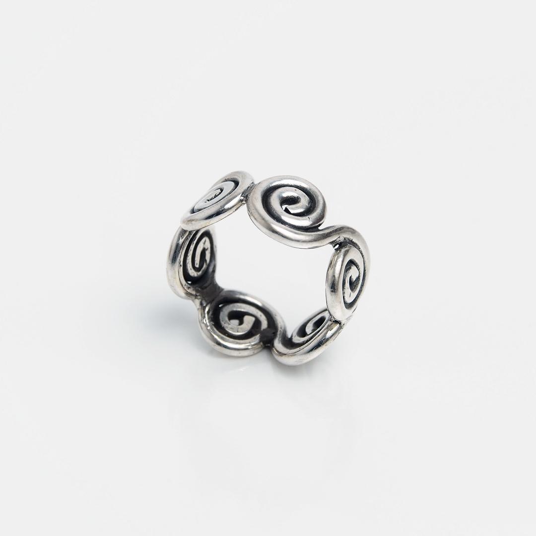 Inel argint spirale, Thailanda