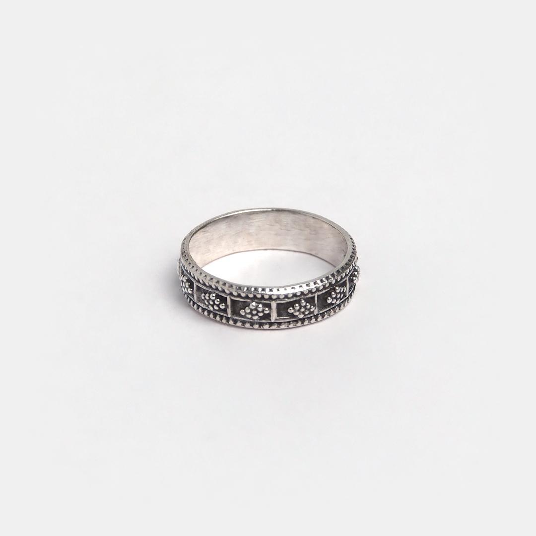 Inel din argint tip verighetă Niksha, India