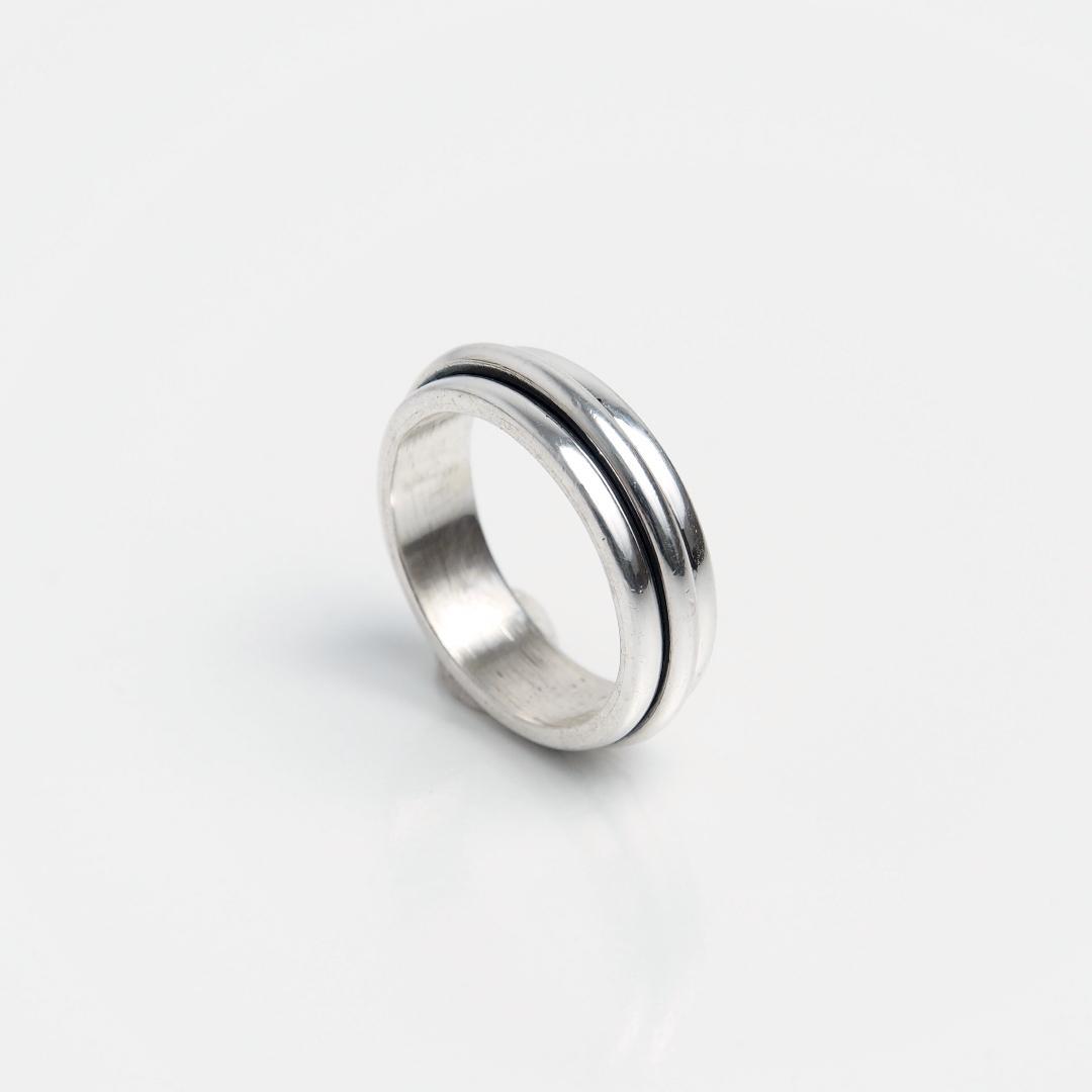 Inel din argint verighetă antistress, Thailanda