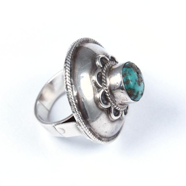 Inel argint și turcoaz, Nepal
