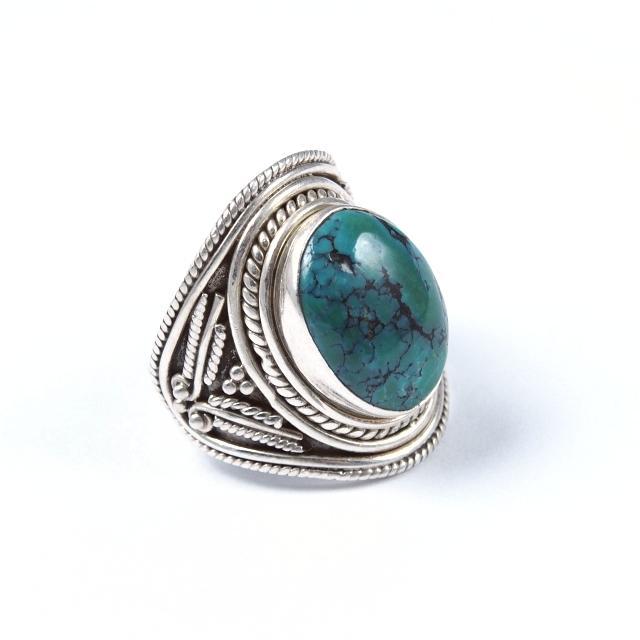Inel argint și turcoaz tibetan, India