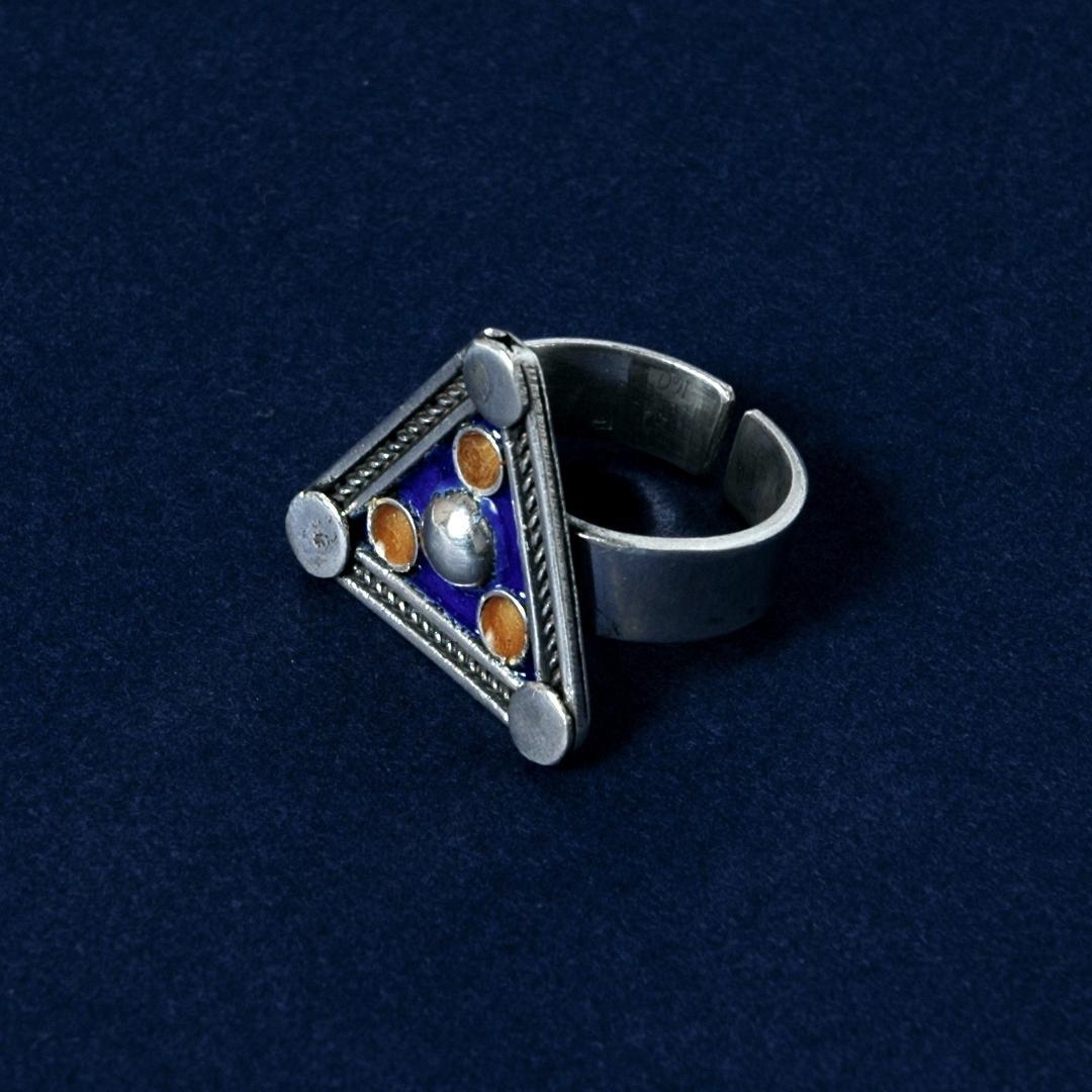 Inel argint și email, triunghi