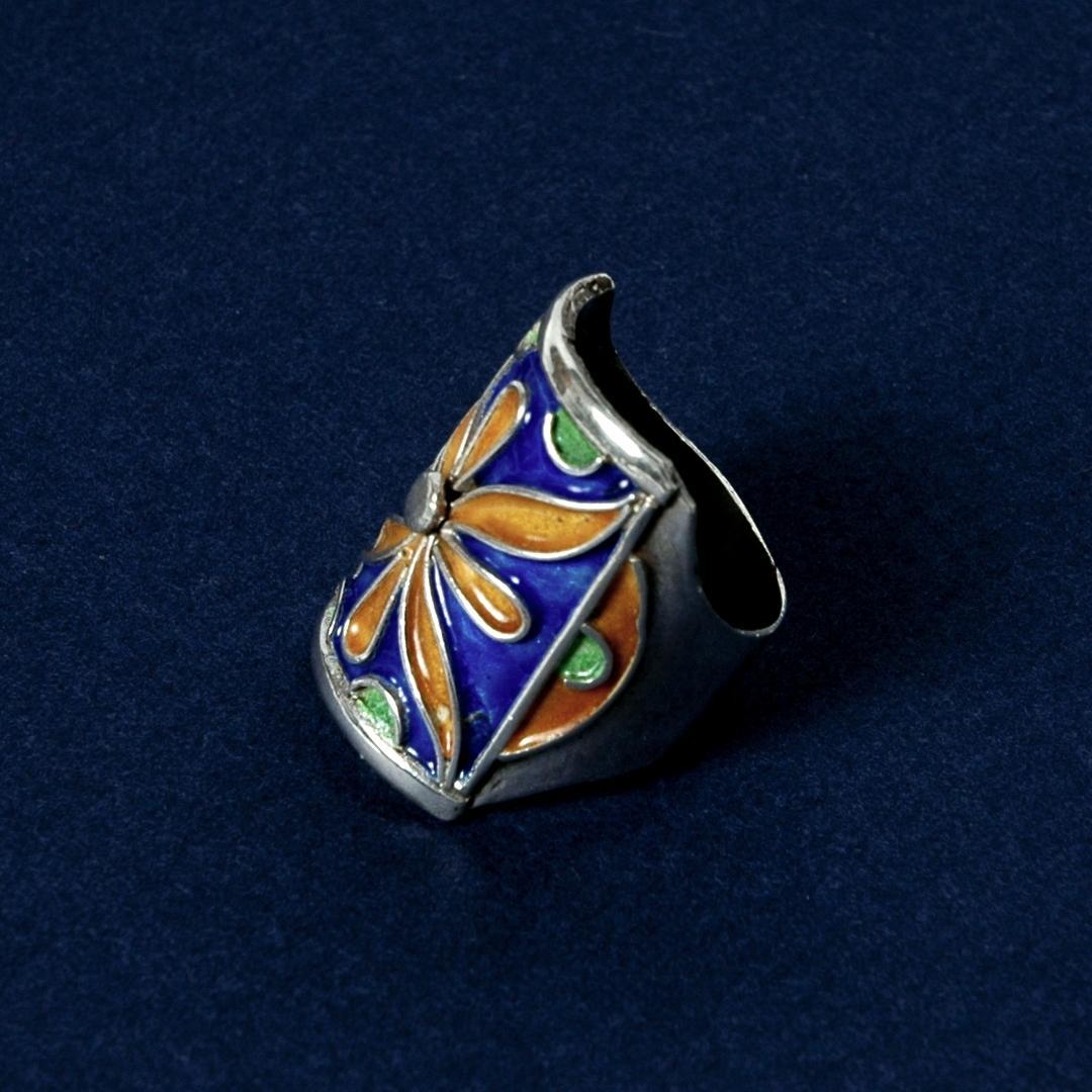 Inel berber argint și email