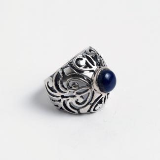 Inel Bikaner, argint și lapis lazuli, India