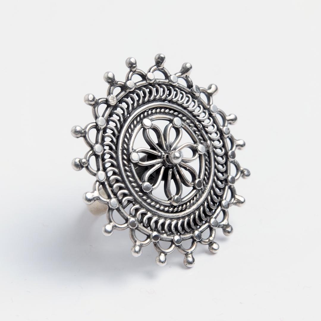 Inel Dipty, argint, India