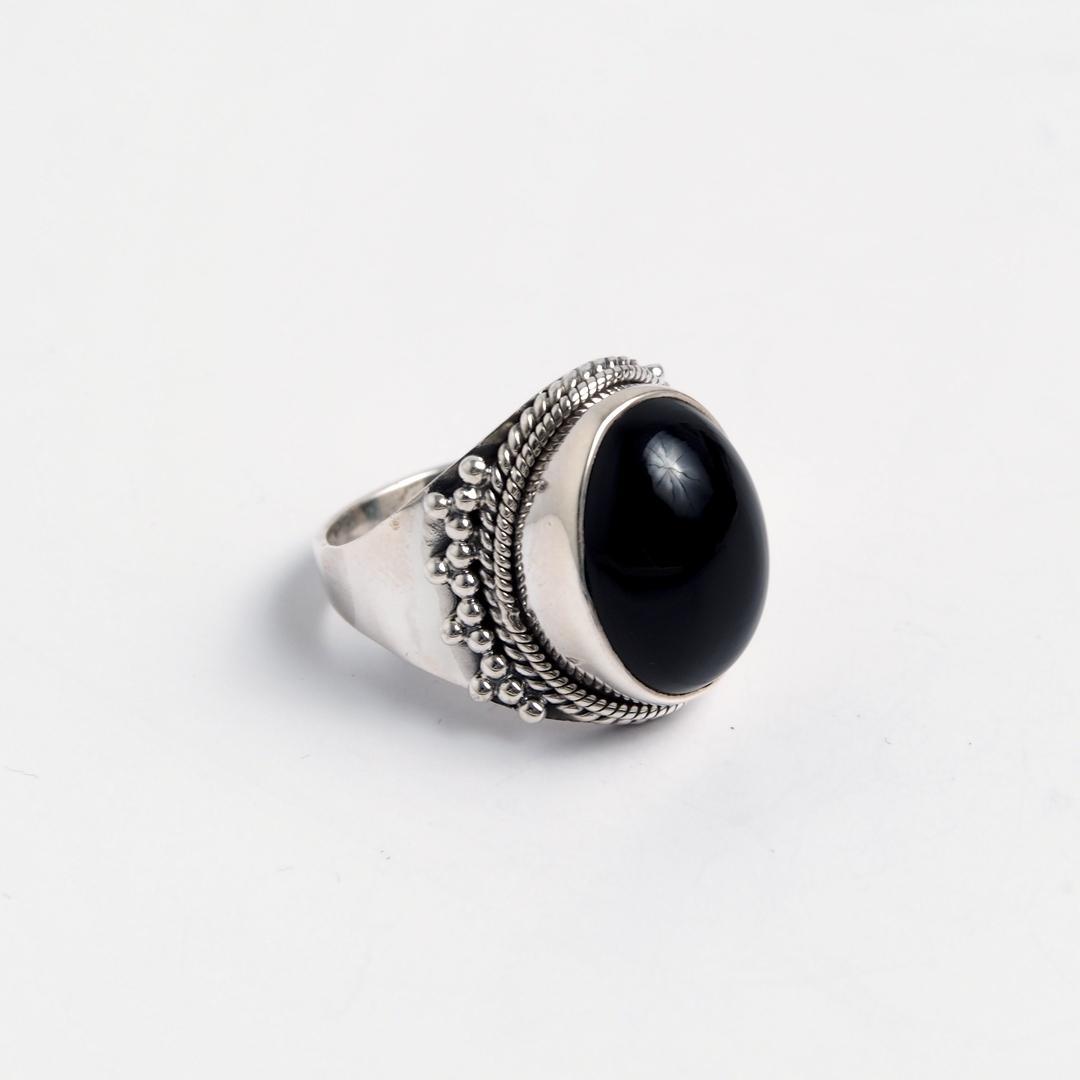 Inel Jahangir, argint și onix, India