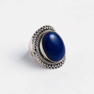 Inel Kikar, argint și lapis lazuli, India