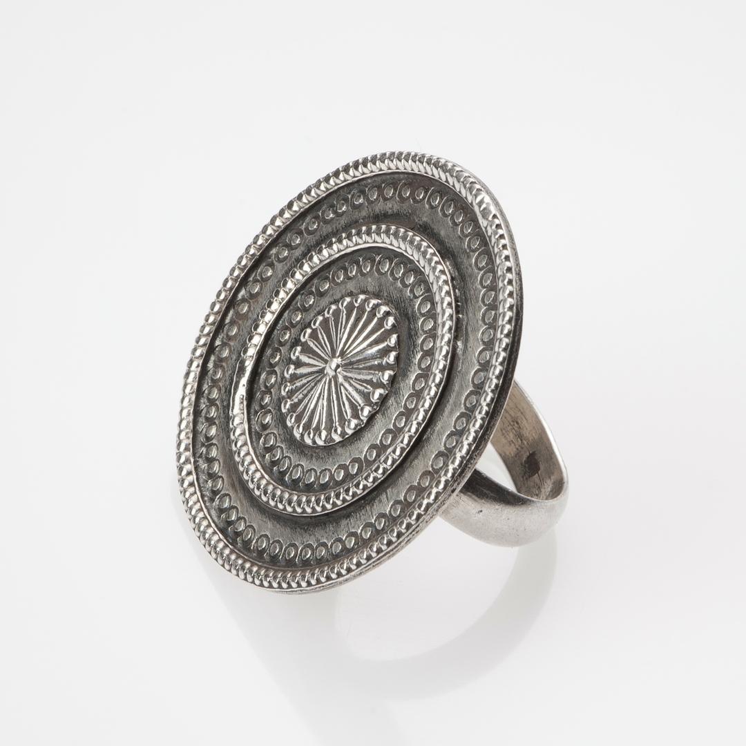 Inel mandala, argint, India