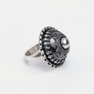 Inel Naveen, argint oxidat, India