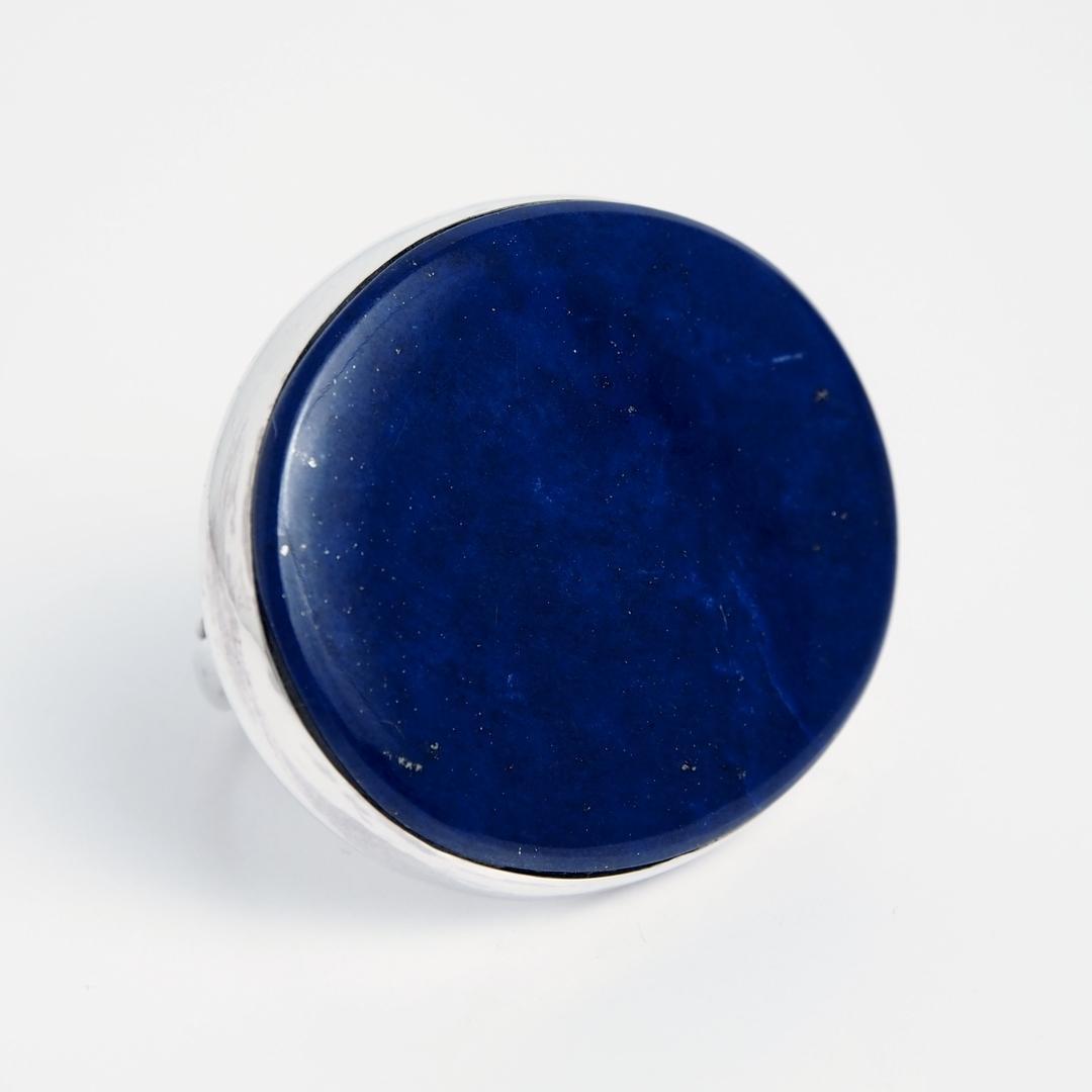 Inel oval Herat, argint și lapis lazuli, India