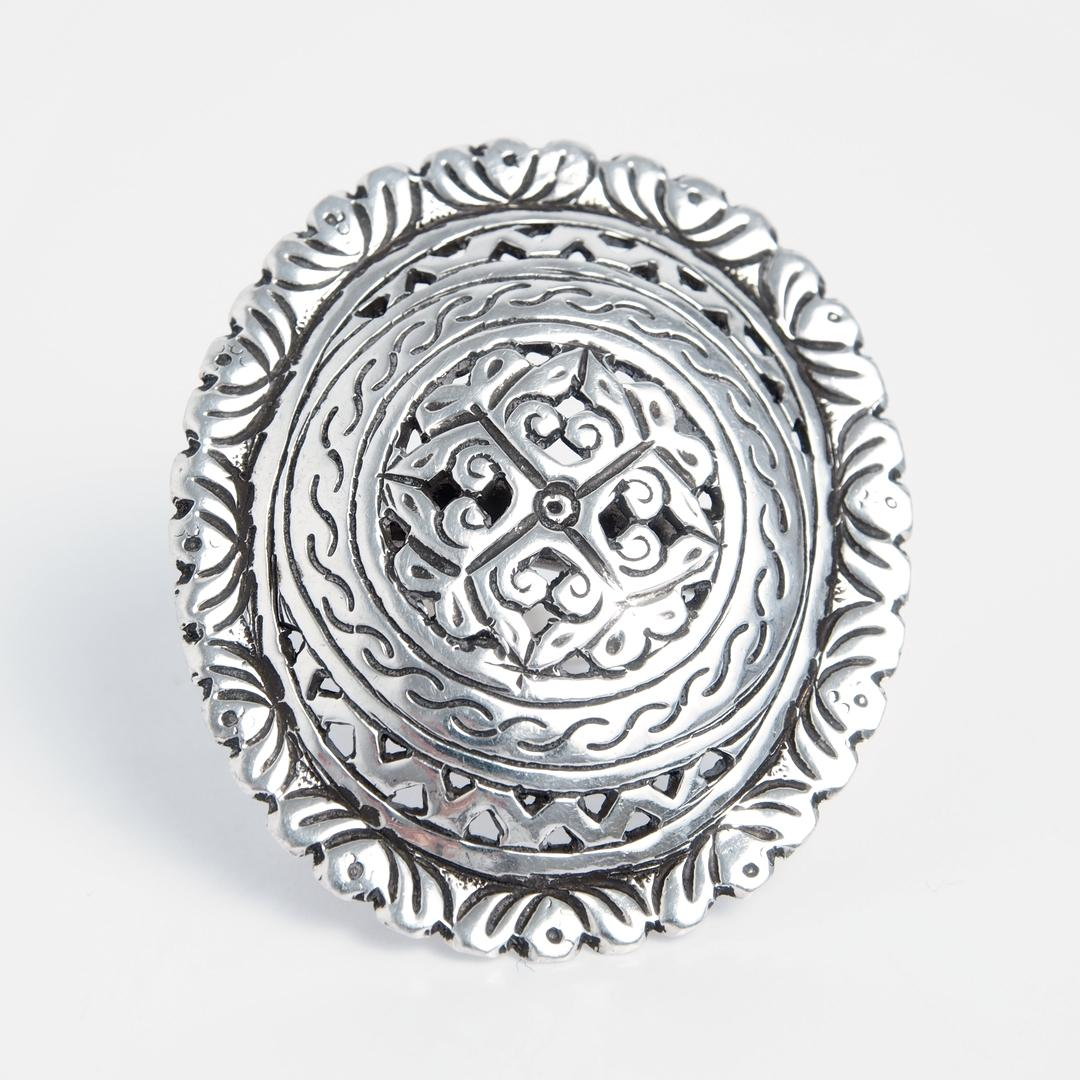 Inel oval Tamil, argint, India