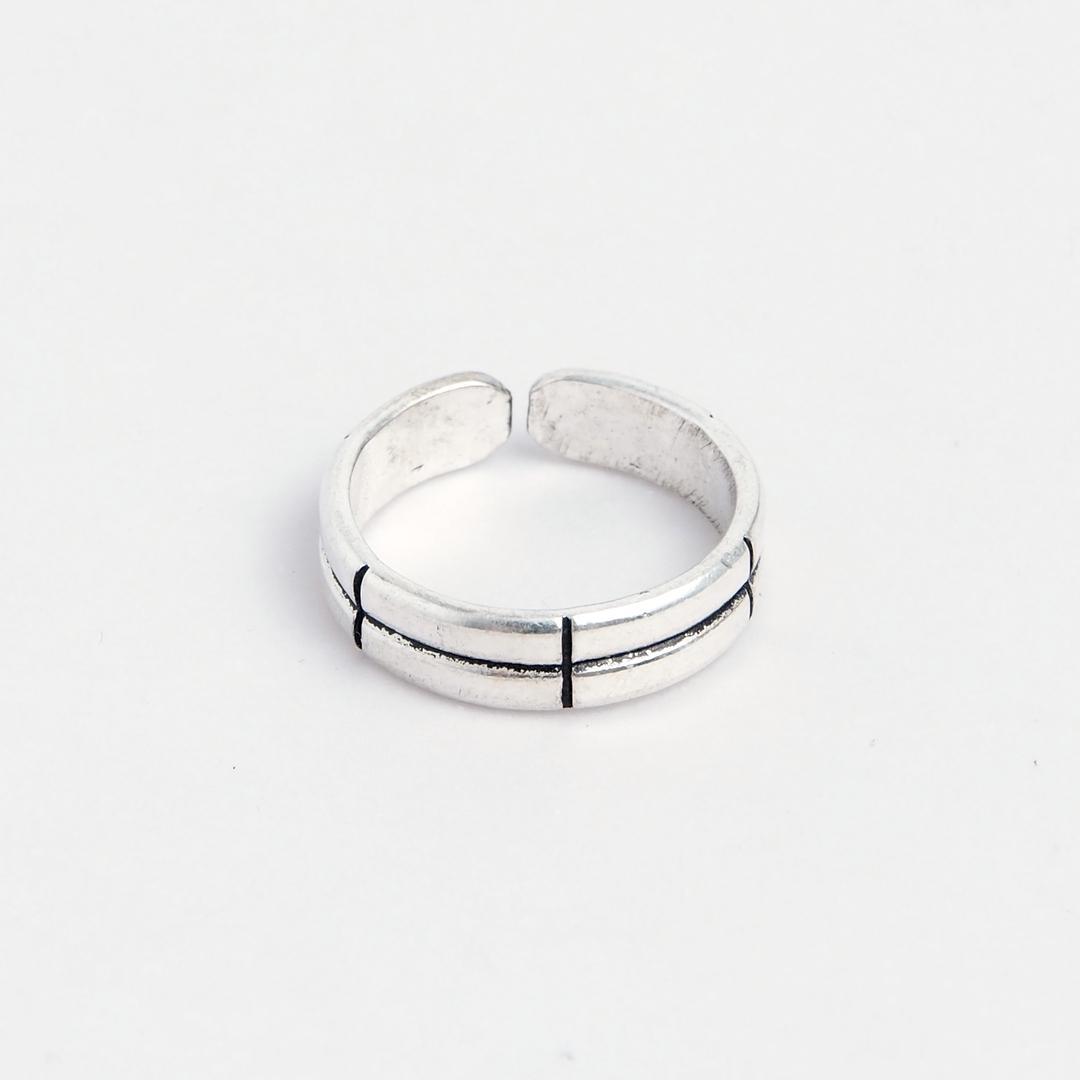 Inel reglabil, șapte secțiuni, argint, India