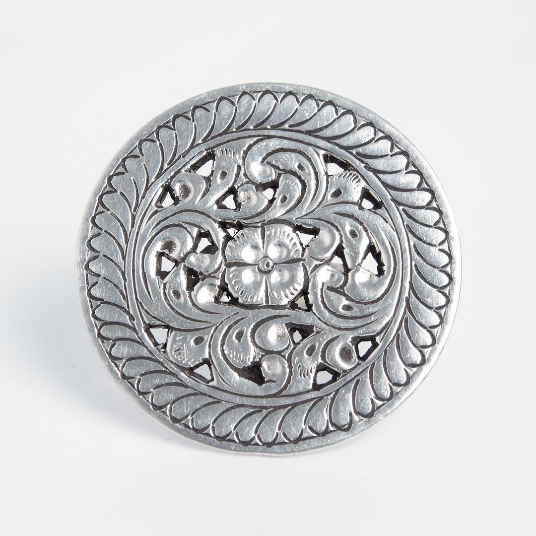 Inel rotund Ashik, argint, India