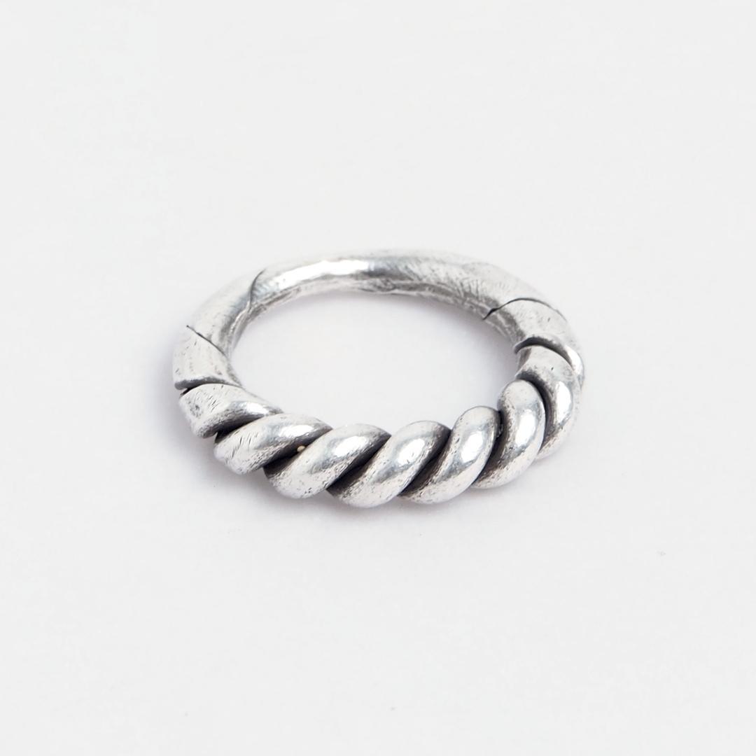 Inel spirală mare Hmong, argint, Thailanda