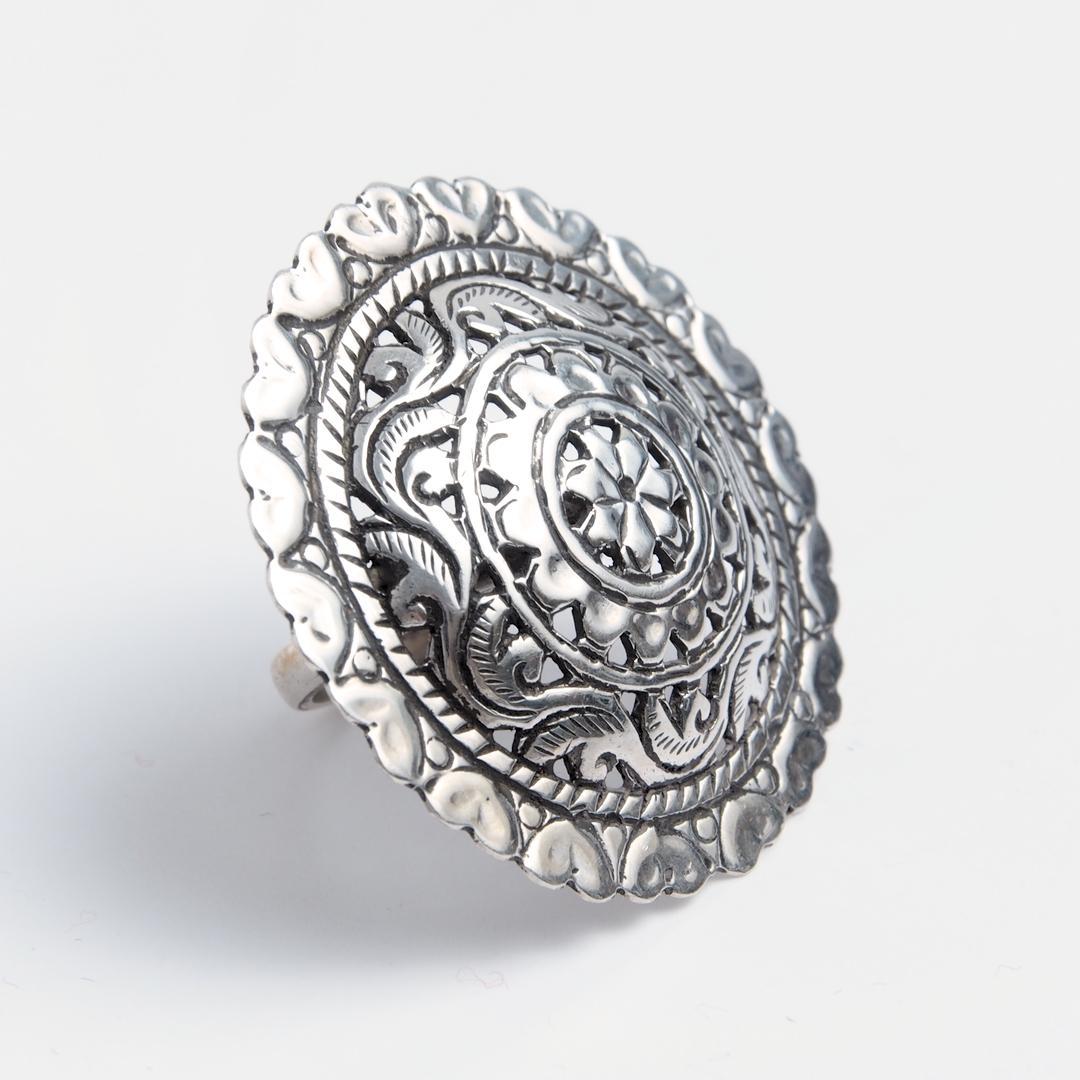 Inel statement Divya, argint, India