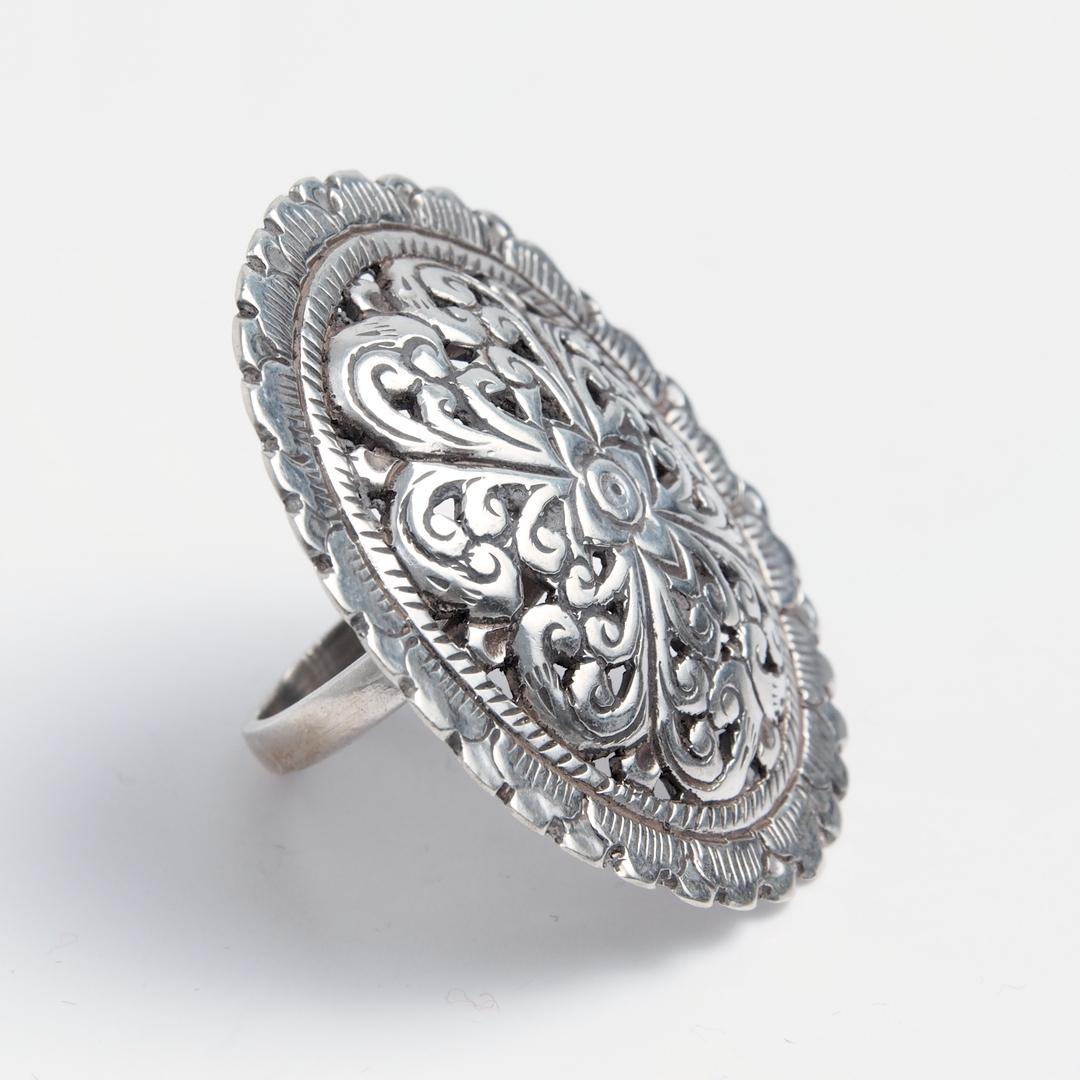 Inel statement Gujarat, argint, India