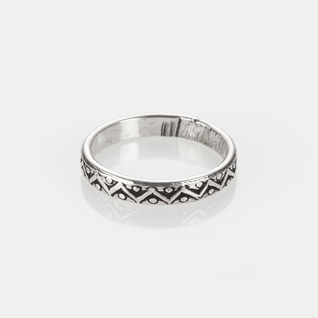 Inel subțire Shiva, argint, India