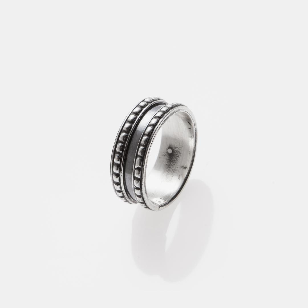Inel tip verighetă, granulație, argint, India