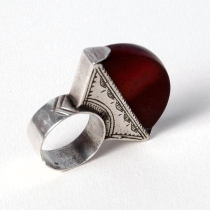 Inel tuareg argint și cornalină