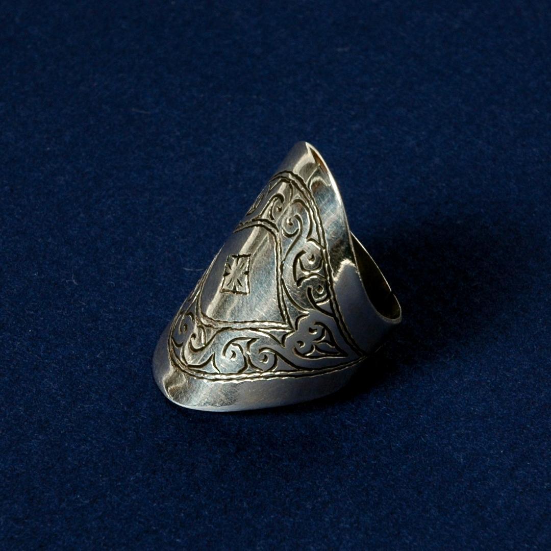 Inel tuareg argint gravat I