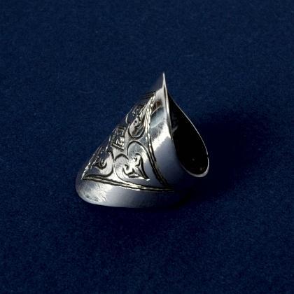 Inel tuareg argint gravat II