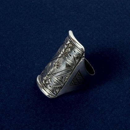 Inel tuareg argint gravat III