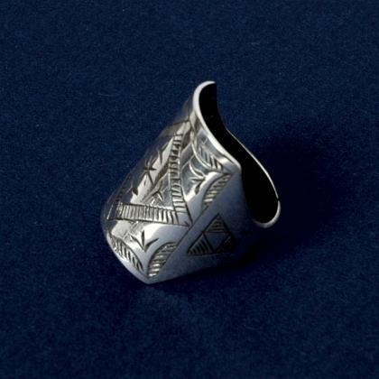 Inel tuareg argint gravat VI