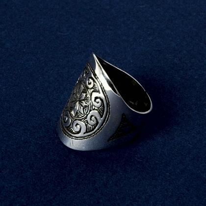 Inel tuareg soare, argint