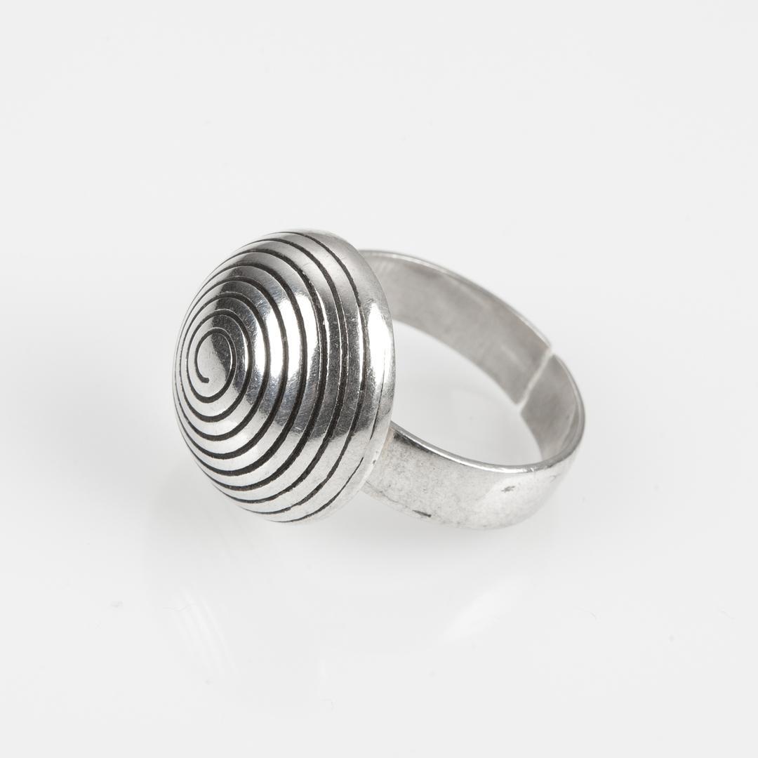 Inel tuareg spirală, argint, Sahara