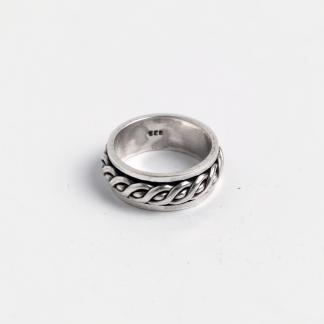 Inel verighetă antistress Puri, argint, India