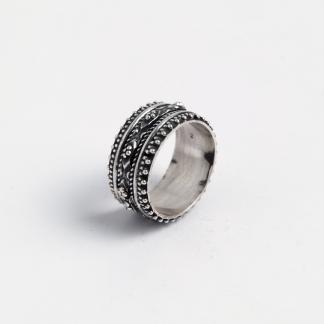 Inel verighetă Khajuraho, argint patinat, India