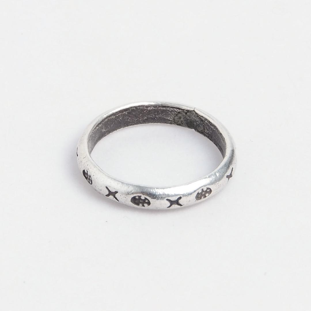 Inel verighetă Ko Samet, argint, Thailanda