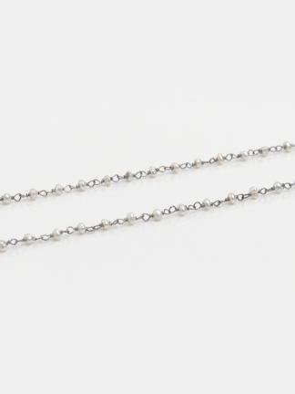 Colier din argint și perle mici de cultură Sanaah, India