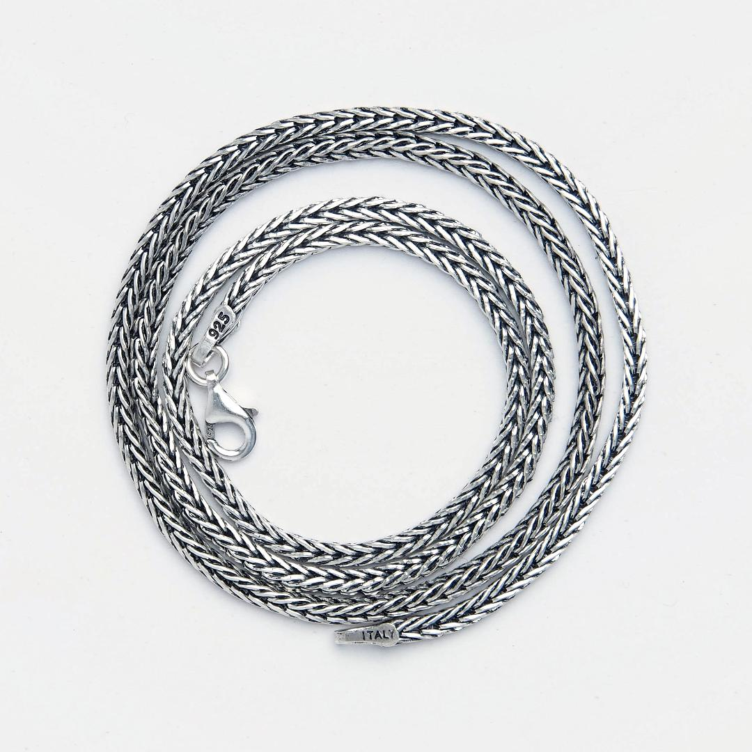Lanț gros argint oxidat Sanur, 50 cm, Indonezia