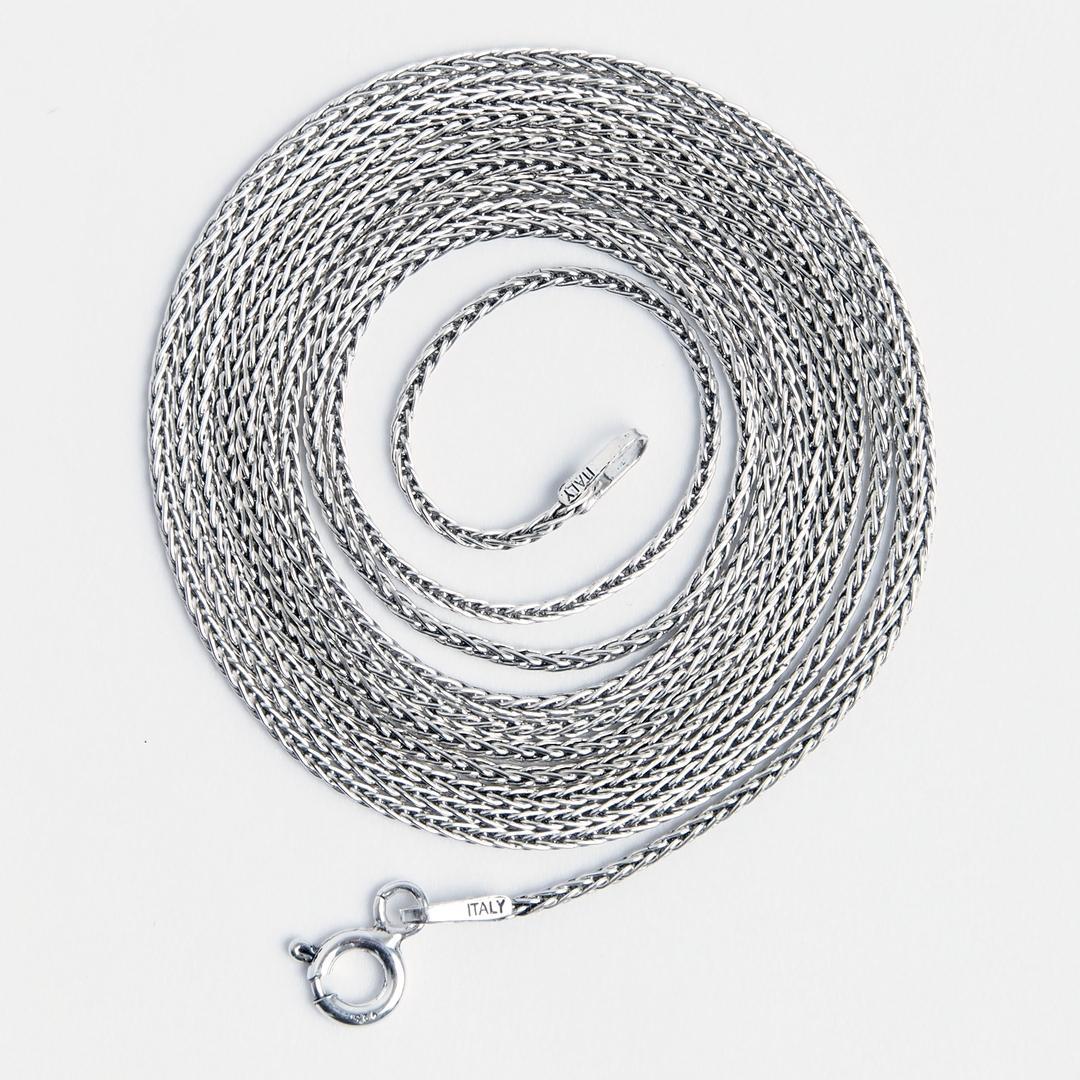 Lanț lung și subțire San, 102 cm, argint, Thailanda