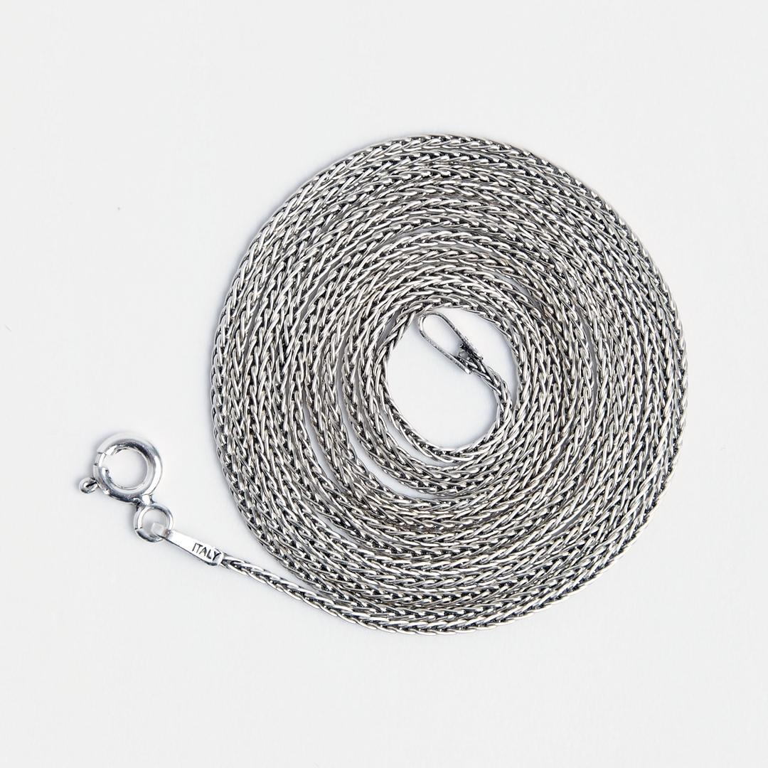 Lanț lung și subțire San, 91 cm, argint, Thailanda