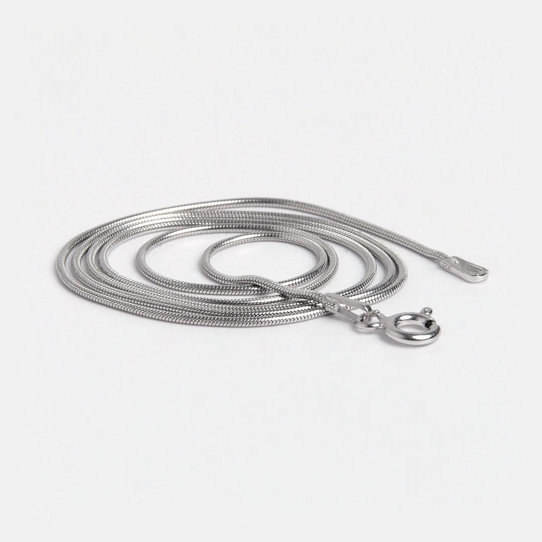 Lanț subțire Kan, 45 cm, argint rodiat, Thailanda